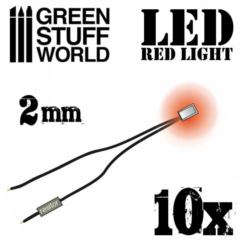 Lumières LED Rouge - 2mm