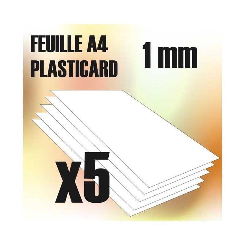 Plaque de Plasticard - 1 mm - COMBOx5 feuilles