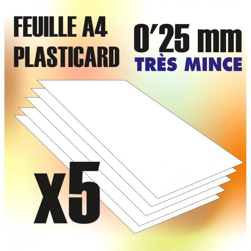 Plaque de Plasticard - 0'25 mm - COMBOx5 feuilles