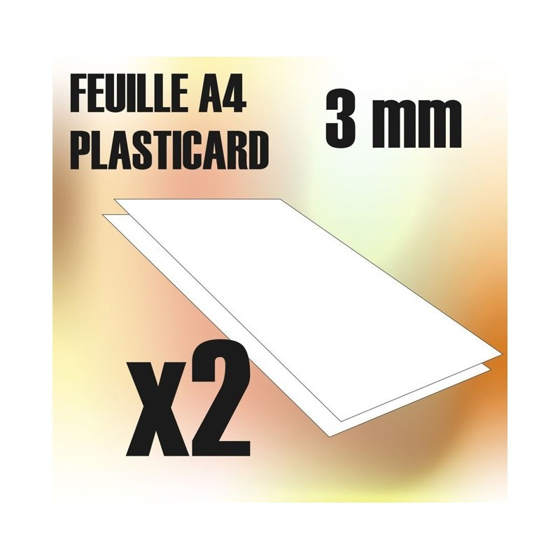 Plaque de Plasticard - 3 mm - COMBOx2 feuilles
