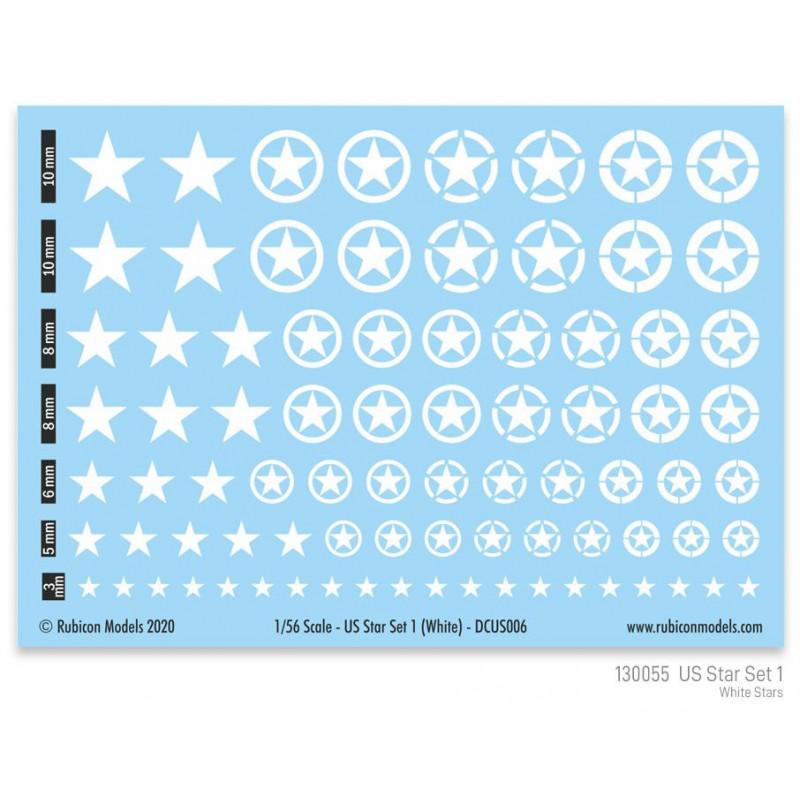 130055 - US Star Set 1 (White US Star)