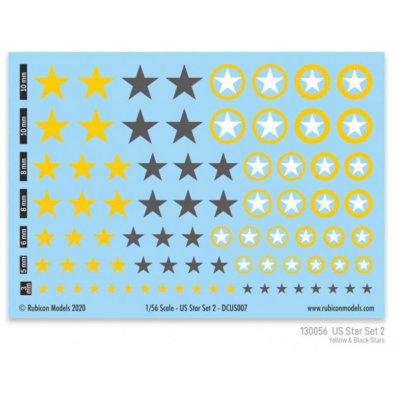 130056 - US Star Set 2 (Yellow & Dark Grey US Star)