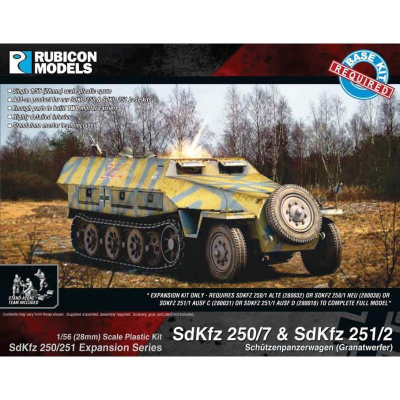 280043 - SdKfz 250/251 Expansion Set- SdKfz 250/7 & 251/2 Mortar Carrier
