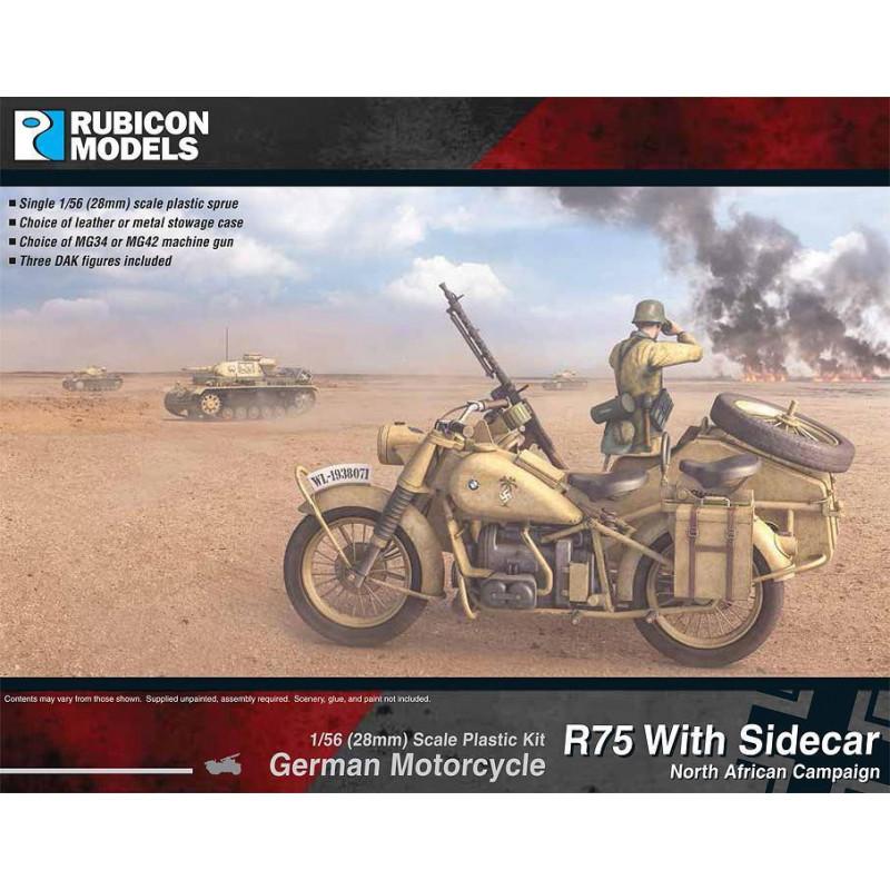 280052 - German Motorcycle R75 with Sidecar (DAK)