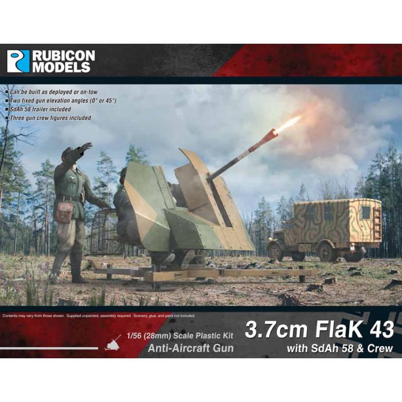 280074 - 3.7cm Flak43 with SdAh 58 Trailer & Crew