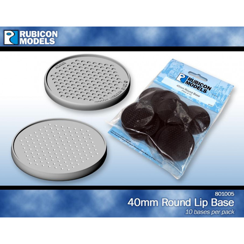 801005 - 40mm Round Base (Pack of 10 Bases)
