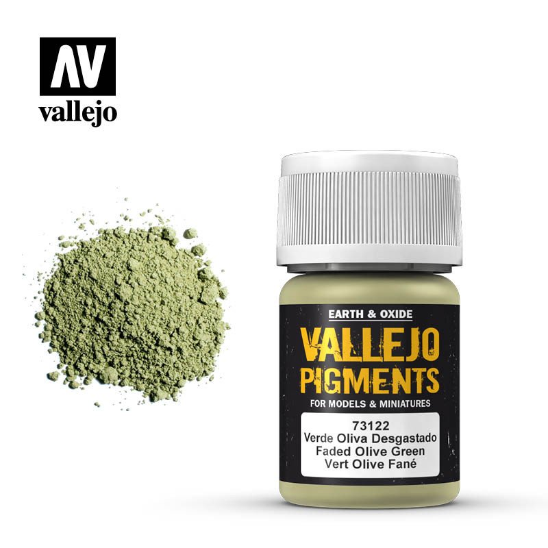faded olive green pigment