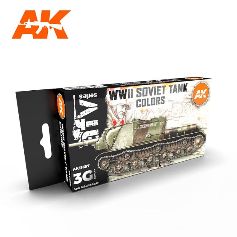 AFV série -WWII SOVIET TANK COLORS set - AK3G