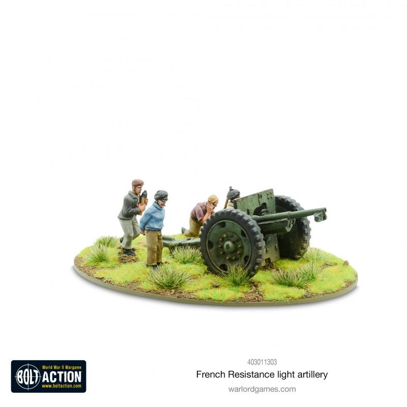 Équipes de la Résistance française PIAT et carabines antichar