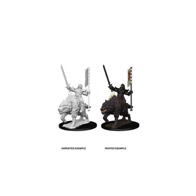 Pathfinder Battles Orc on Dire Wolf