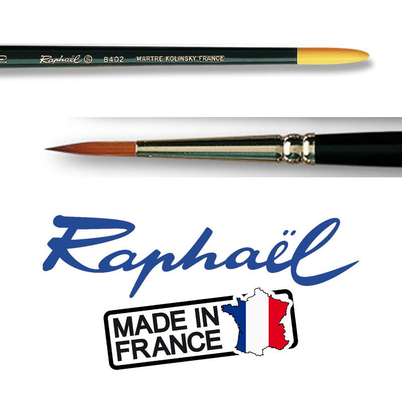 Pinceau Raphaël Kolinsky 8402 N°2/0 Pointe extra fine