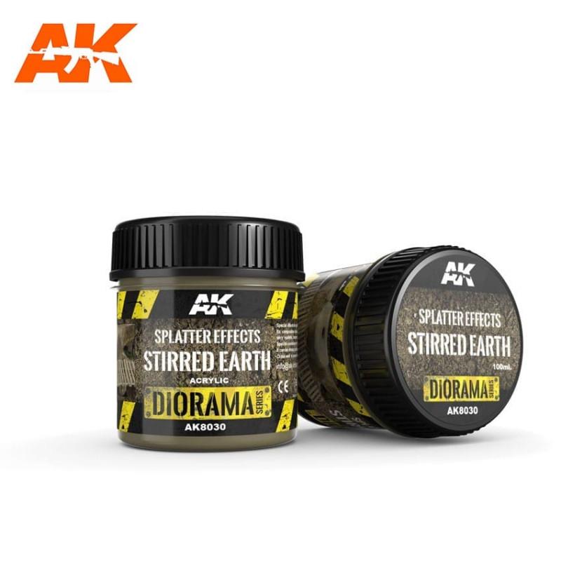 SPLATTER EFFECTS STIRRED EARTH - 100ml (Acrylic) - AK