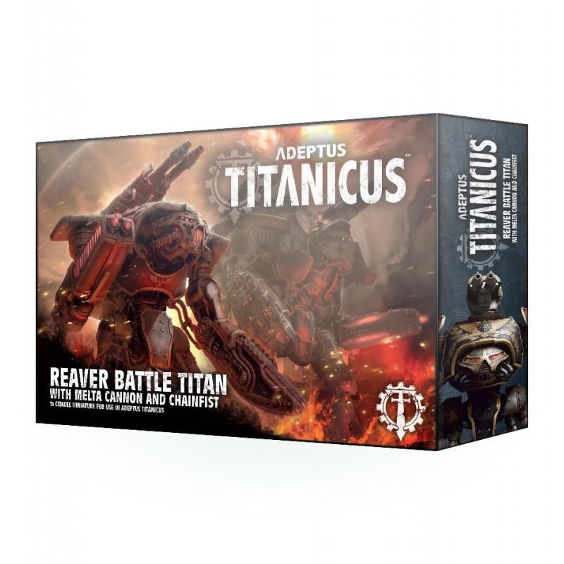 Adeptus Titanicus Reaver Battle Titan avec canon à fusion et poing tronçonneur